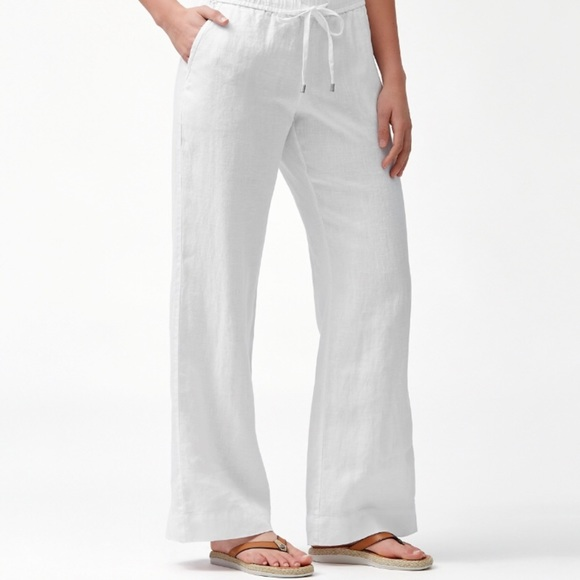 Tommy Bahama Pants - NEW Tommy Bahama White Linen Two Palms Pant